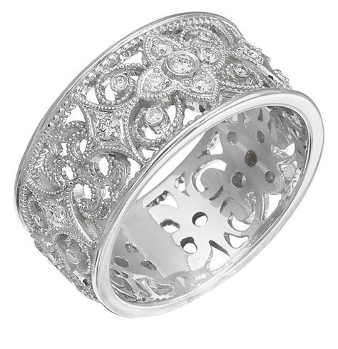 BUY IT NOW! Authentic Diamonds Set on 14K White Gold Ring