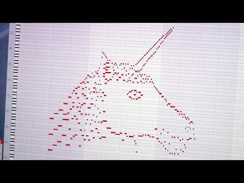 A Unicorn Drawn With MIDI Notes That Also Plays a Beautiful Melody