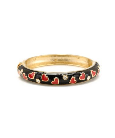 Betsey Johnson Skinny Heart Bangle Bracelet