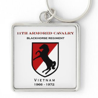 11th Armored Cavalry Blackhorse Patch Keychain
