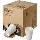 Boardwalk BWKWHT10HCUPOP Convenience Pack Paper Hot Cups, White, 10 oz - 261 count