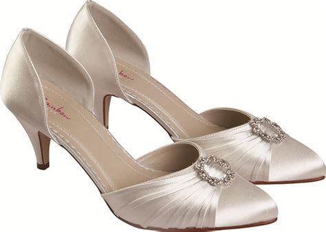 Rainbow Club Tanya Ivory Satin Dyeable Wedding Shoes