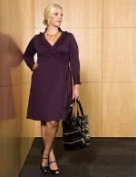 Igigi Camilla Wraparound Dress in Plum