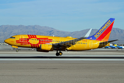 Southwest Airlines Boeing 737-7H4 WL N781WN (msn 30601) (New Mexico One) LAS (Rainer Bexten). Image: 913046.