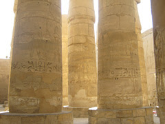 Columns in the Great Hypostyle Hall