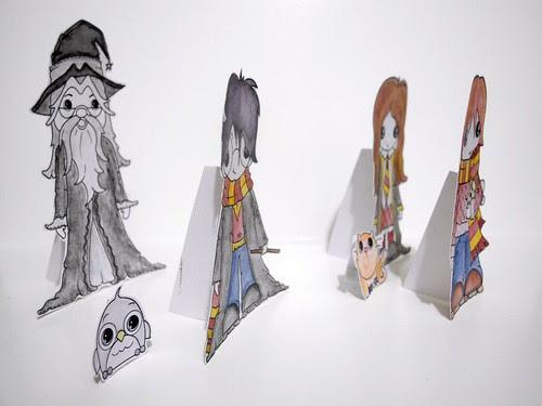 Harry Potter paper dolls (side)