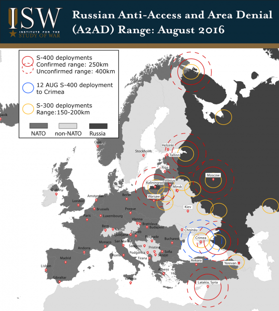 Russian A2AD AUGUST 2016-01 (Institute for the Study of War)