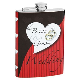Bride & Groom Personalized Wedding Flask   Flasks.com