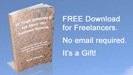 FREE ebook: 19 Tough questions to ask yourself about your freelance business.