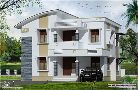 simple flat roof home design feet kerala architecture