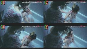 Cecilia Henriques a tomar banho na serie Luz Vermelha