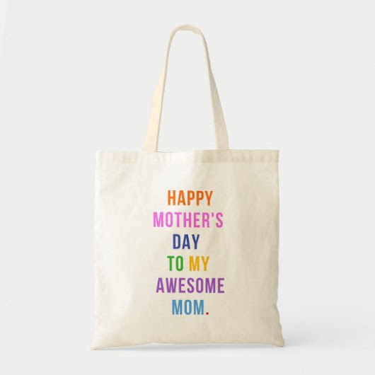 Awesome Mom Mother's Day Budget Tote Bag