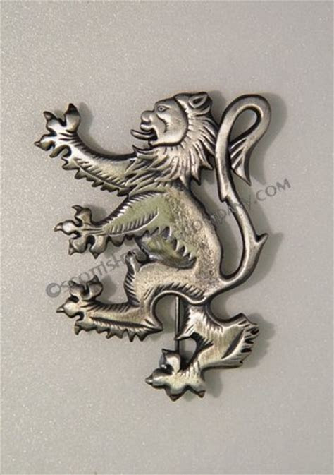 Antique Lion Rampant Brooch Kilt Pin [akp7ant]   $37.99