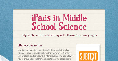 iPads in Middle School Science