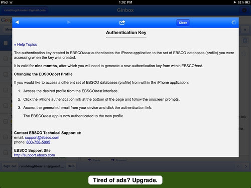 Ebscohost iPhone app