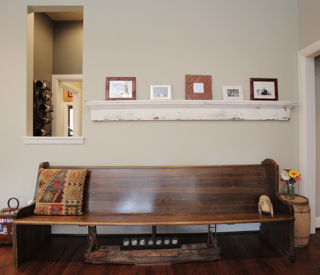 Bench Seating Detail - eclectic - living room - dallas - by ...