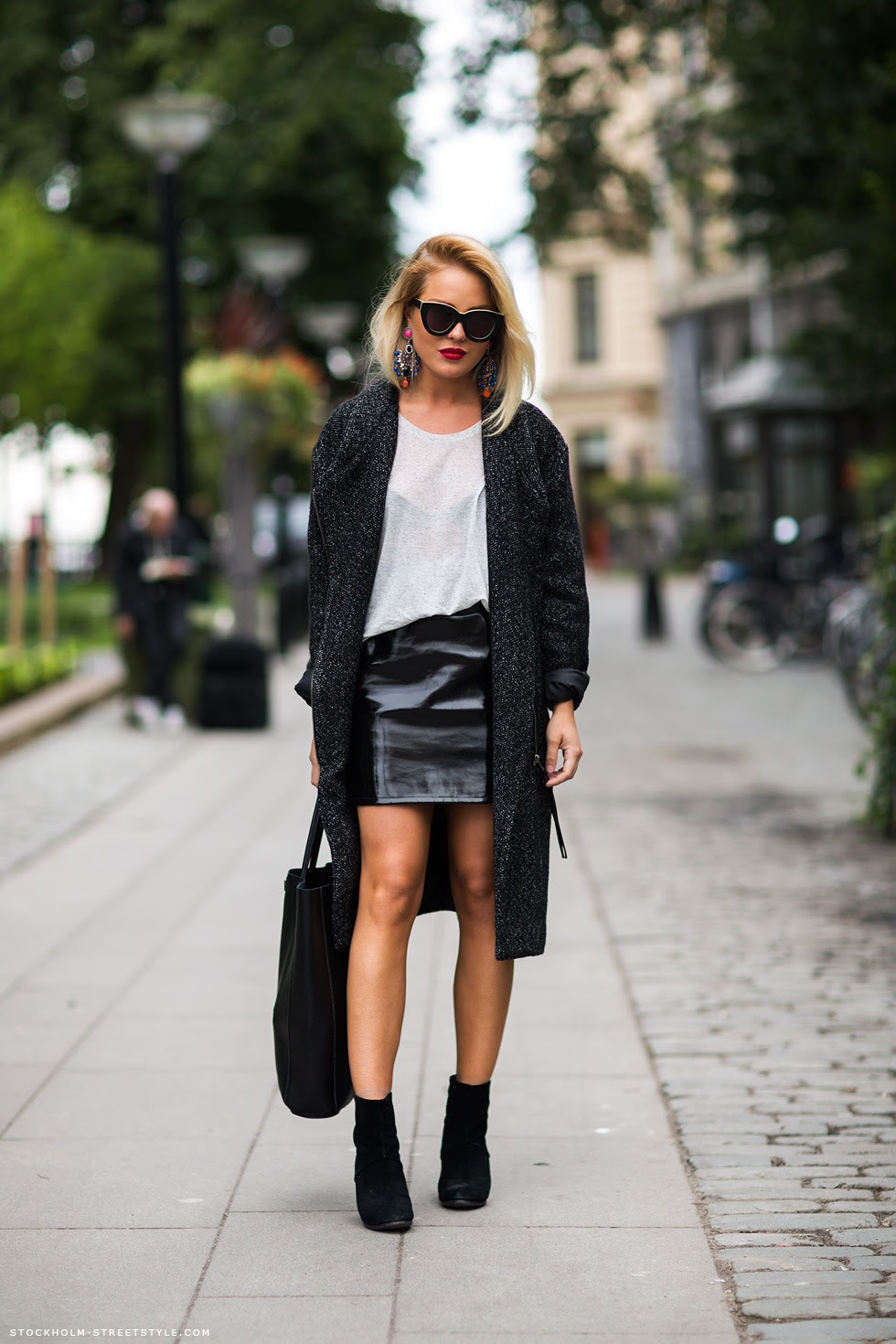 how to style black mini leather skirts – the fashion tag blog