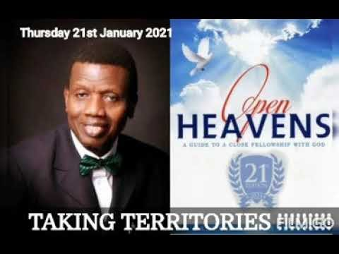 Open Heaven 21 January 2021 – Taking Territories