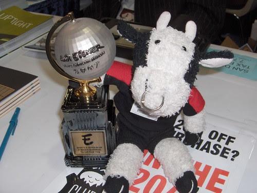 """I won an Eisner Award for """"Best Stuffed Animal Blogger!"""""""