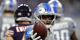 Detroit Lions receiver Marvin Jones makes a catch over Chicago Bears safety Eddie Jackson in the first half Saturday, Dec. 16, 2017 in Detroit. Rey Del Rio, AP