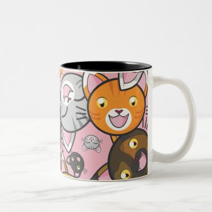 Oodles of Kitty- Coffee Mug (choose your color)