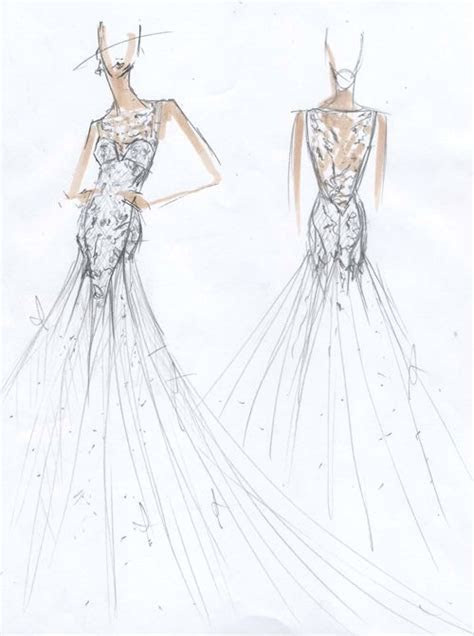 Exclusive Spring 2015 Wedding Dress Sketches   UX/UI