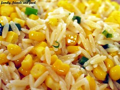 orzo with toasted corn and scallions