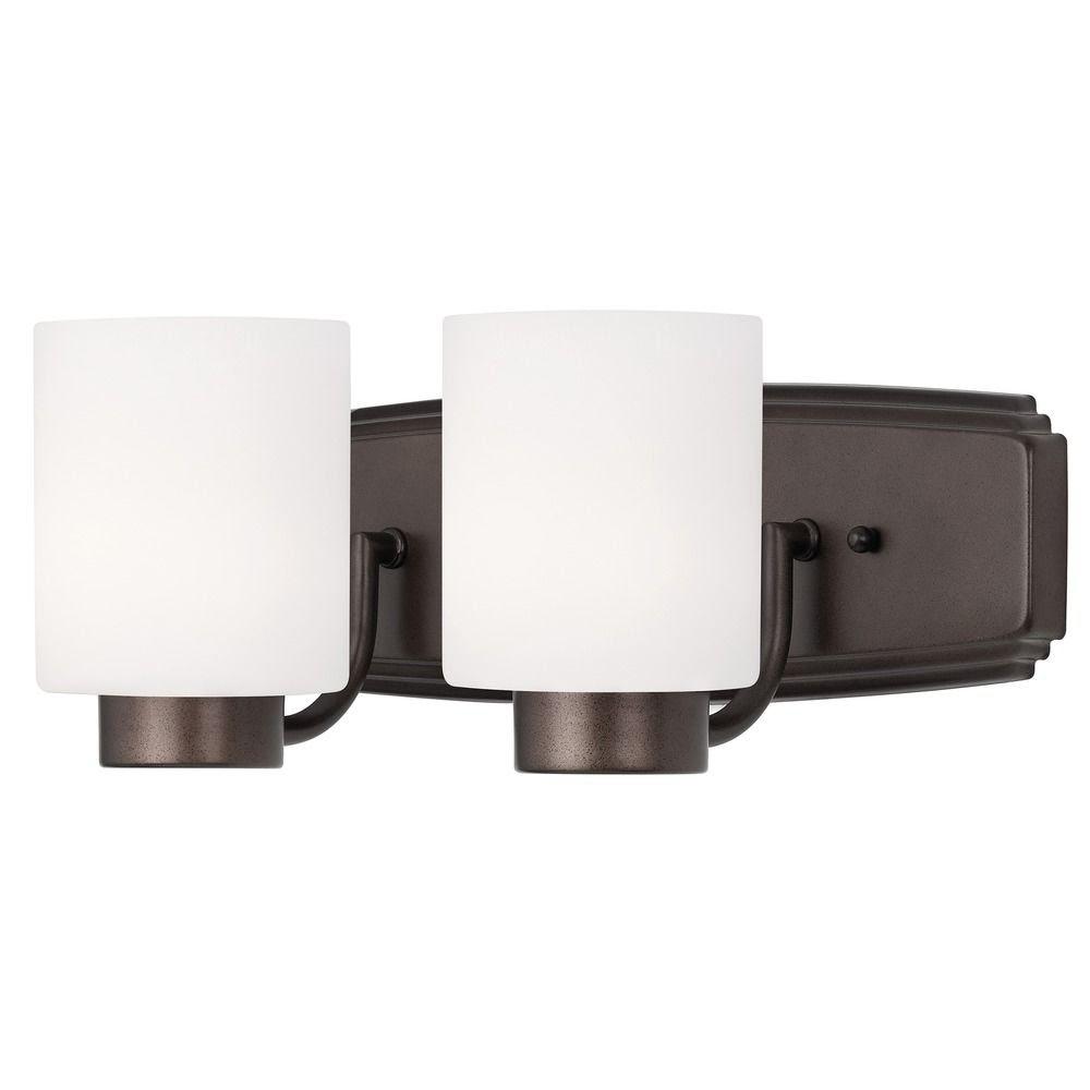 Heirloom bronze Modern Bathroom Light in Bronze Finish with ...