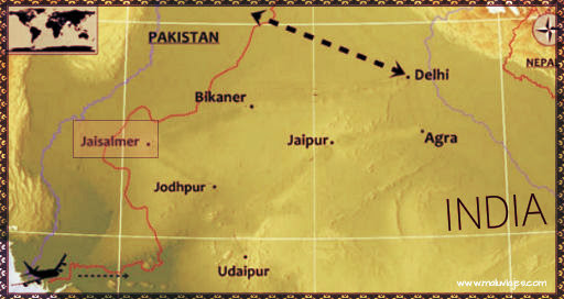 India: La ciudad Dorada de Jaisalmer Parte I | Spinning Around the World