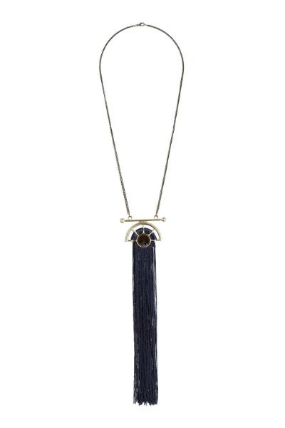 Topshop Long Tassel Necklace