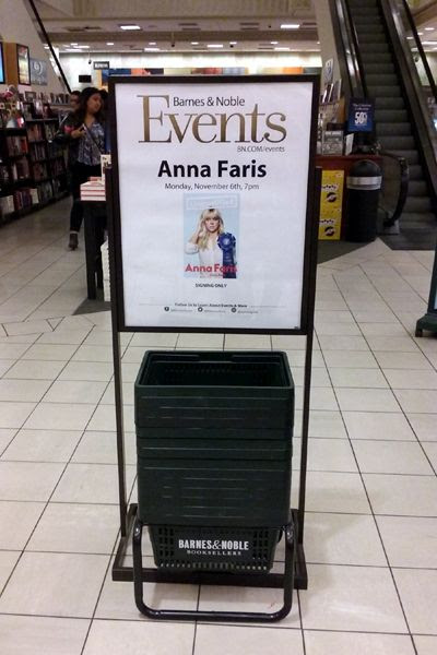 At The Grove's Barnes & Noble bookstore in Los Angeles to attend a signing by actress Anna Faris...on November 6, 2017.
