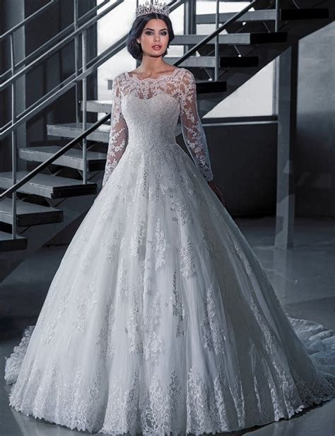 Aliexpress.com : Buy Vintage Bridal Ball Gown Long Sleeve