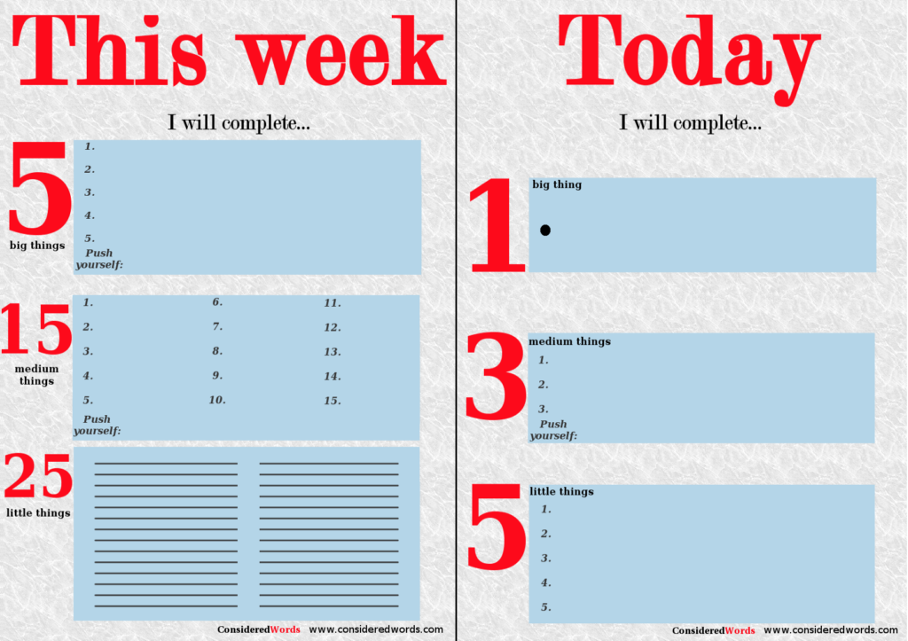 To do lists - get things done with these free downloadable printouts