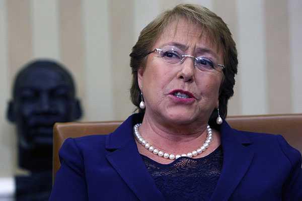 Bachelet defiende en EE.UU el proceso de reformas .: 'Chile no es un país populista'