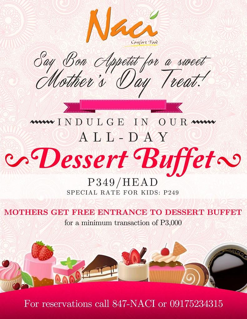 NACI Comfort Food Mother's Day Dessert Buffet