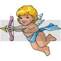 Fre Cupid graphics of cute baby angel with arrows.