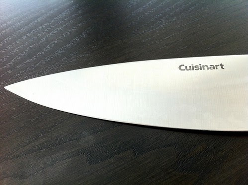 Chef Knife Blade Closeup