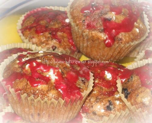 Wild berries muffins
