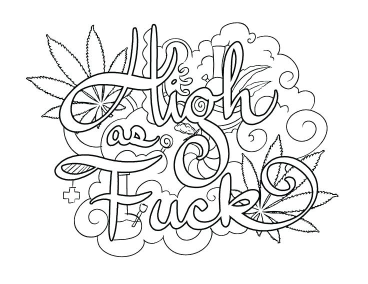 Profanity Coloring Pages - Coloring Pages 2019