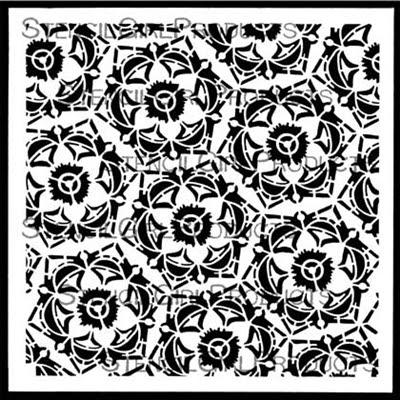 Decorative 6-Petal Flower Stencil by Gwen Lafleur