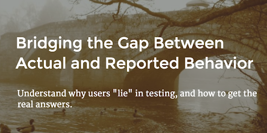 Bridging the Gap Between Actual and Reported Behavior