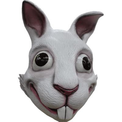 funny rabbit mask transparent png stickpng
