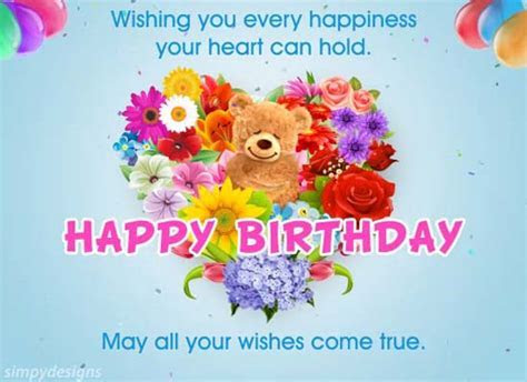 Love, Hugs & Birthday Wishes. Free For Son & Daughter