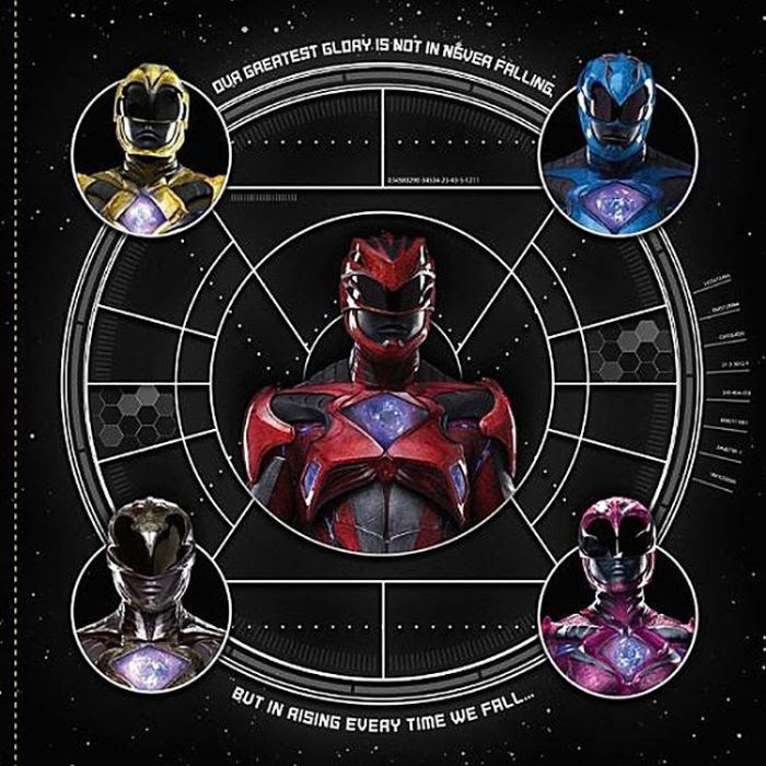 Resultado de imagem para Power Rangers 2017 novas artes estilizadas