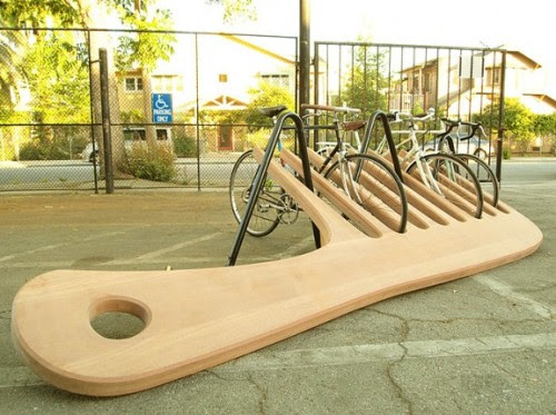 yearslater:  A 400 Pound Comb Bike Rack | Colossal