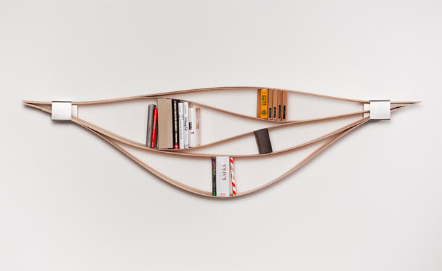 Chuck: A Flexible Wooden Bookshelf wood furniture bookshelf books