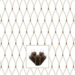 Vickerman X4B2819 Brown Wire Wide Angle Net Light Set with Pure White LED Lights - 2 x 8 ft.