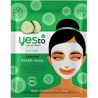 Yes To Cucumbers Paper Mask, Calming - 1 mask, 0.67 fl oz