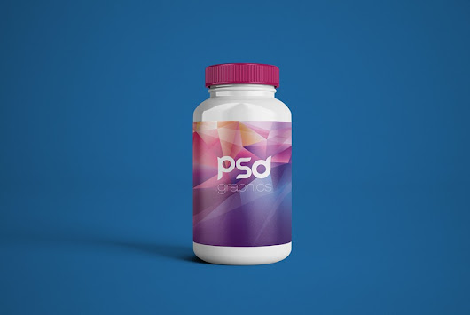 Plastic Pill Bottle Mockup Free PSD | PSD Graphics