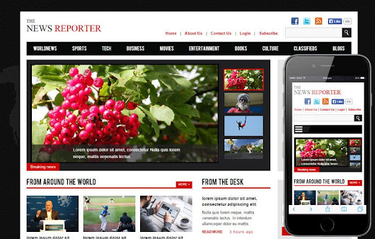 The New Reporter a Entertainment Category Flat Bootstrap Responsive Web Template by w3layouts